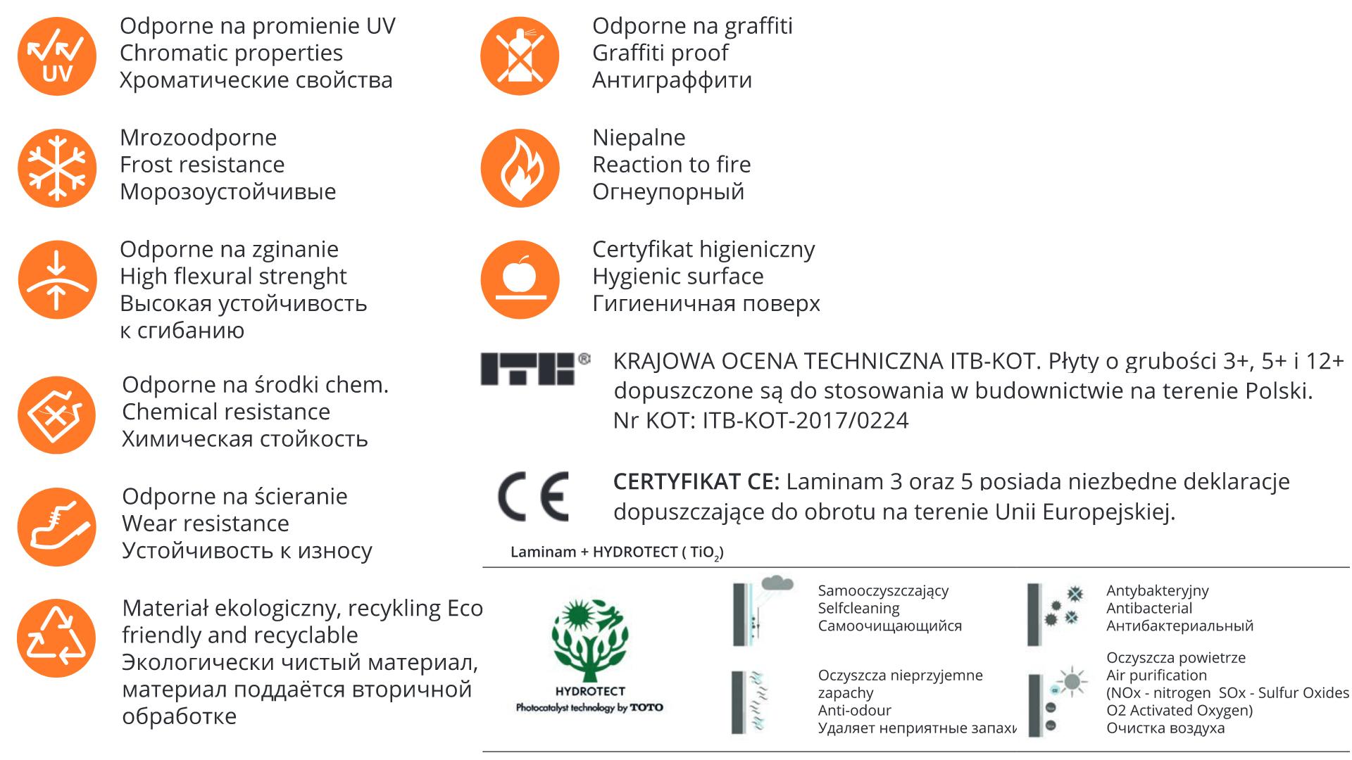 Właściwości fizyczne-chemiczne-Laminam